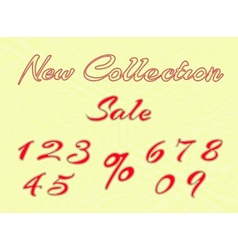 Embroidered words and numbers for retail vector