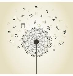 Music a dandelion vector image