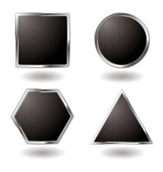 Silver button variation vector