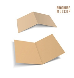 3d brochure of paper craft vector image vector image