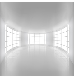 White Rounded Room Illuminated by Sunlight vector image