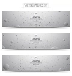 Technology web banners vector