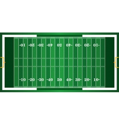 Realistic american football field background vector