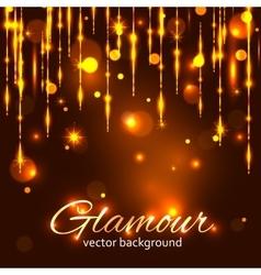 Glamour gold background Glamorous background vector image