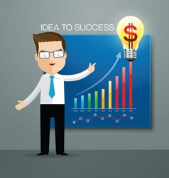 Business man idea success vector
