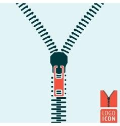 Zipper icon isolated vector