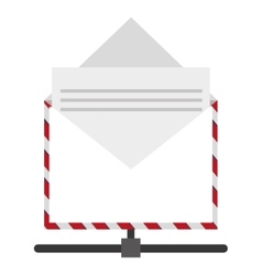 Open envelope with document icon vector