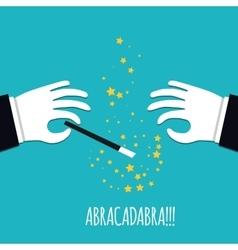 Abracadabra cartoon concept Cartoon Magicians vector image vector image
