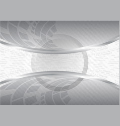 Abstract gray background grid and wave vector