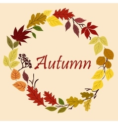 Autumnal yellow red orange and green leaves vector