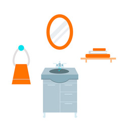 bathroom icons process water savings symbols vector image