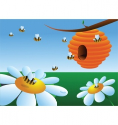 beehive vector image