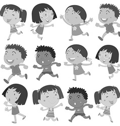 Boys and girls movements vector image vector image