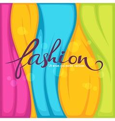 bright fashion vector image vector image