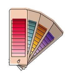 Color palette guide scale set in watercolor vector