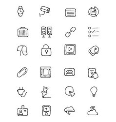 Communication hand drawn icons 3 vector