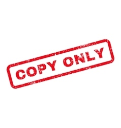 Copy Only Text Rubber Stamp vector image vector image