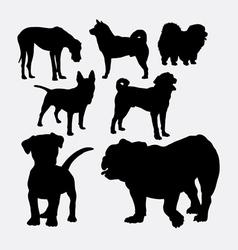 Dog pet animal silhouette vector