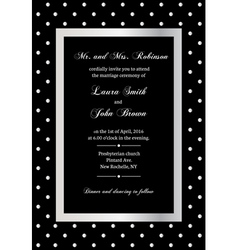 elegant invitation vector image