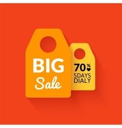 Flat big sale badge vector image