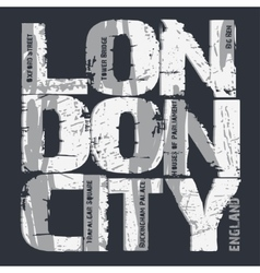 London city typography design vector