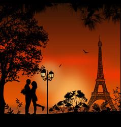 Lovers in paris vector