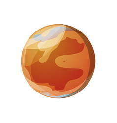 Mars planet isolated vector