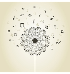 Music a dandelion vector