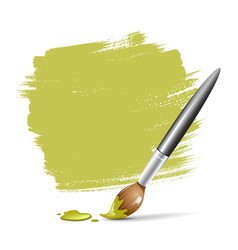 Paint brush green space your text vector