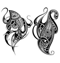 Paisley elements vector
