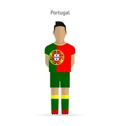 Portugal football player soccer uniform vector