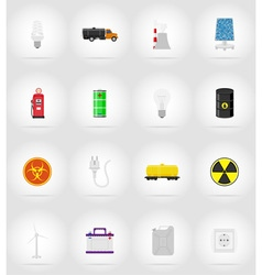 power and energy flat icons 17 vector image vector image