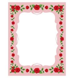 Red roses frame and border vector
