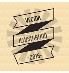 Ribbon and striped circle design vector