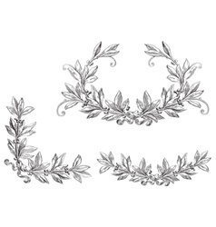 Set of laurel wreath vector image