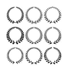 Set of laurel wreaths vector image vector image