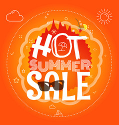 summer sale hot summer sale vector image vector image