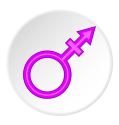 Transgender sign icon cartoon style vector