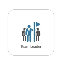 Team leader icon flat design vector