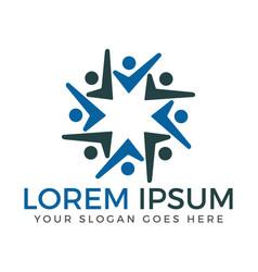human community logo design vector image