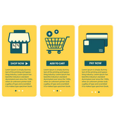 Concept of online shopping web screen with vector