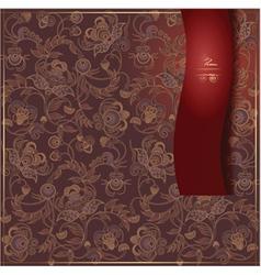 red menu68 vector image