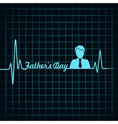 happy father day creative medical greeting concept vector image