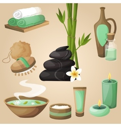 Spa icons concept vector