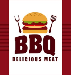 delicious barbecue vector image