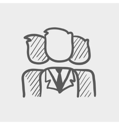 Group of businessmen sketch icon vector