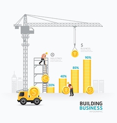 Infographic business money graph template design vector