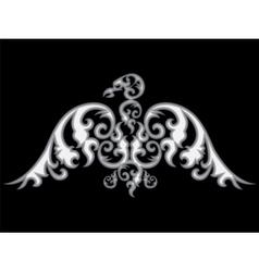 Eagle silhouette vector image