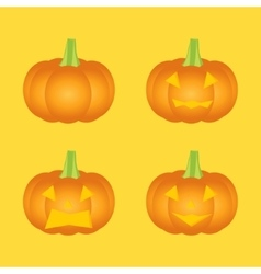 Set of halloween pumpkin vector