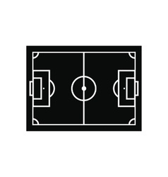 Soccer field layout black simple icon vector